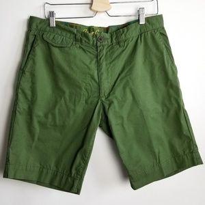 Robert Graham Olive Green Shorts w/ rainbow stitch
